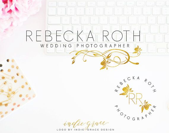 Custom PreDesigned / Modern Organic Logo and Stamp by IndieGrace