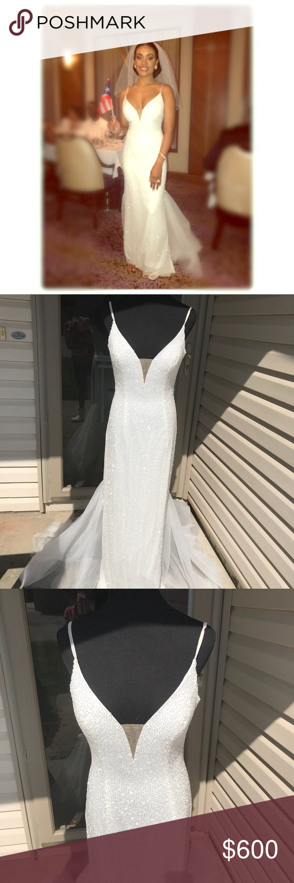 uc sherri hill uc white gown dress size in my