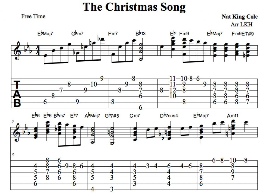The Christmas Song Chestnuts Roasting On An Open Fire Arranged For Guitar Chords Tab Melody Includes In Depth T Guitar Lessons Songs Guitar Chords Songs