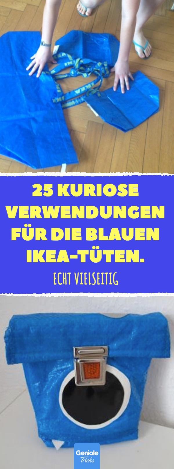 25 kuriose Verwendungen für die blauen IKEA-Tüten. #ikeaideen