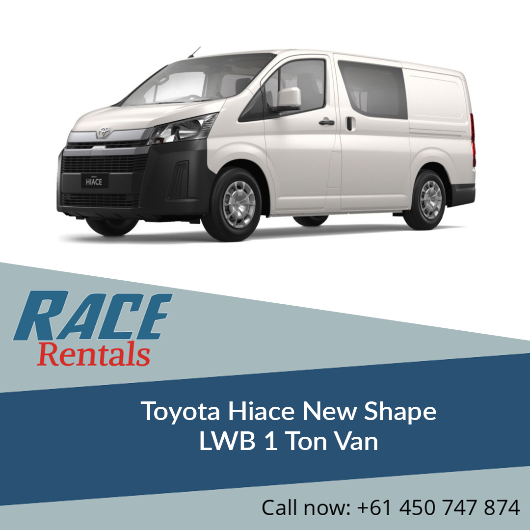 Rental And Pricing Information: Hire Toyota Hiace New Shape LWB 1 Ton Van At Cheapest