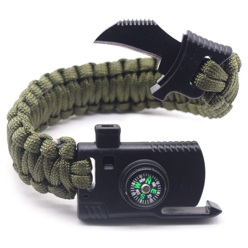 9f577b314e90 Tienda Online Trenzado Paracord pulsera de supervivencia al aire ...