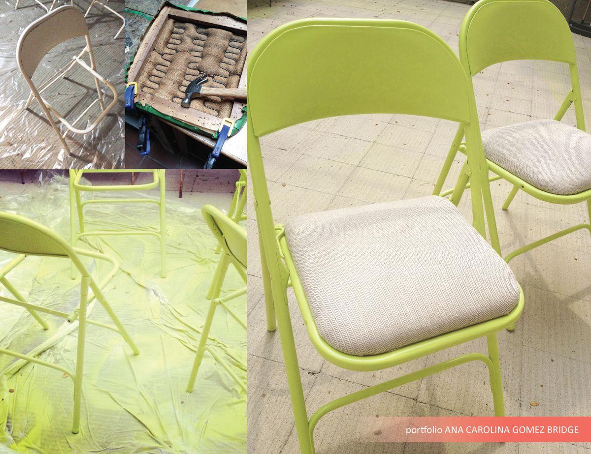 Pintura aerosol verde limon y tapizado de asiento en tela textura ...