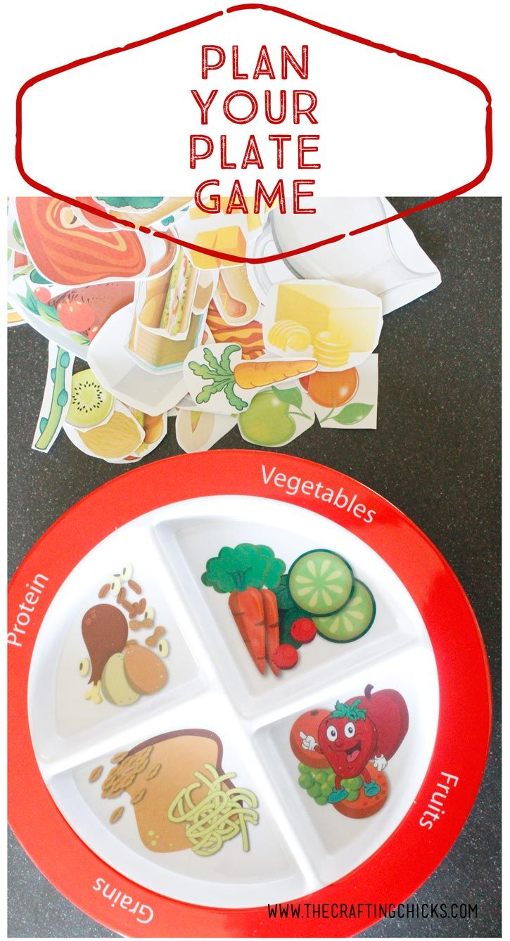Plan Your Plate Game Kids nutrition, Group meals