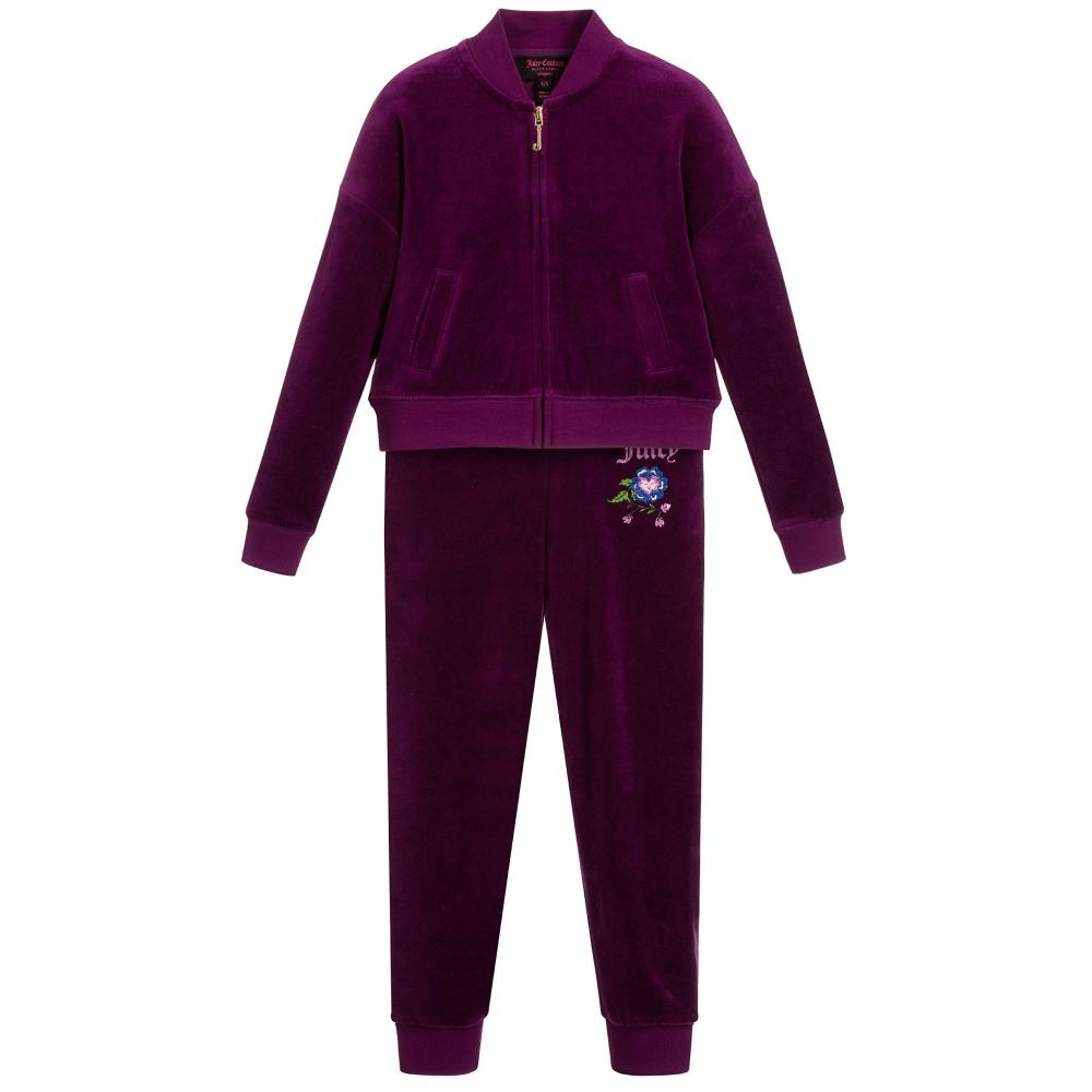 c5b8ff44e154 Girls Purple Velour Tracksuit. Juicy Couture ...