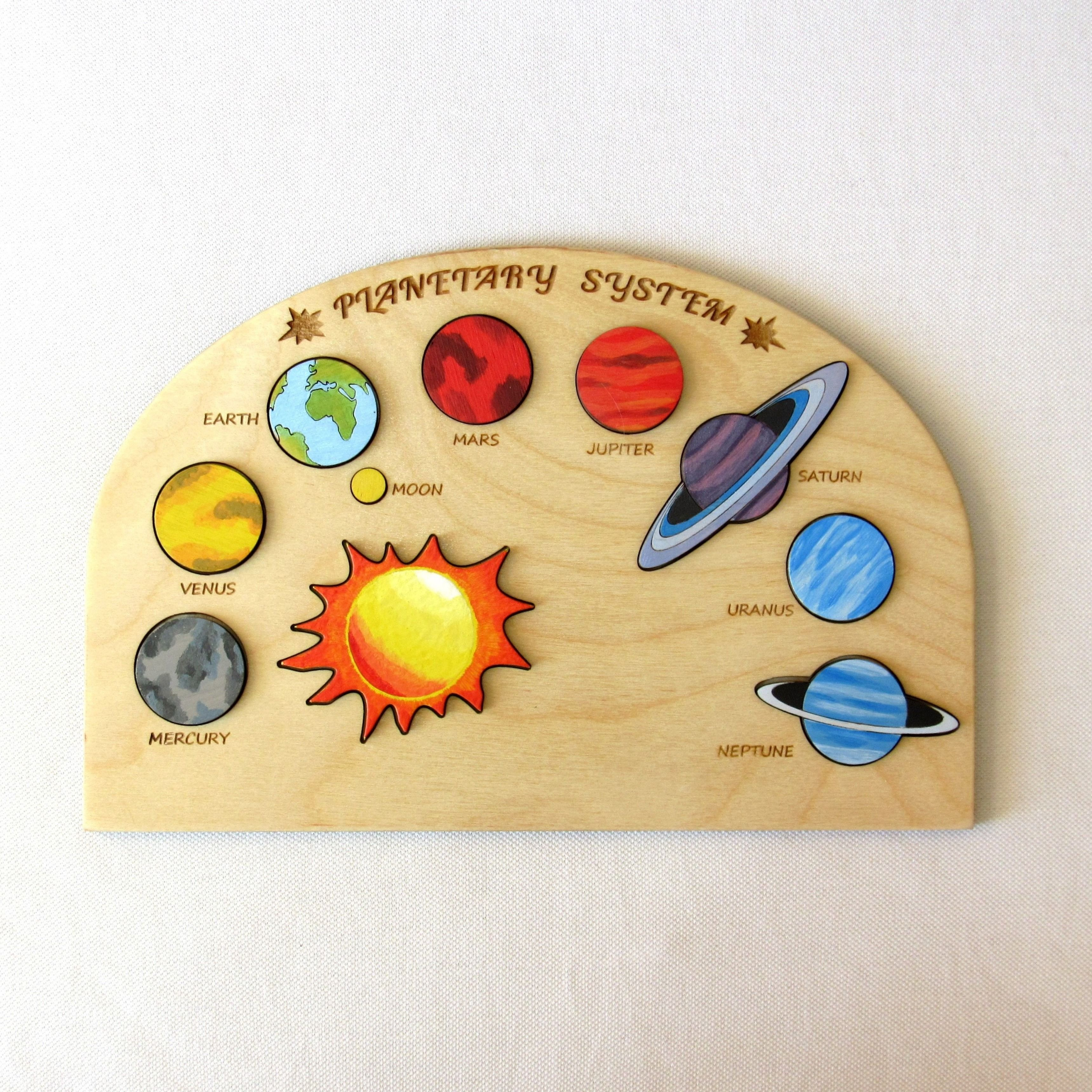 Planetary System Puzzle Wooden Planetary System Puzzle
