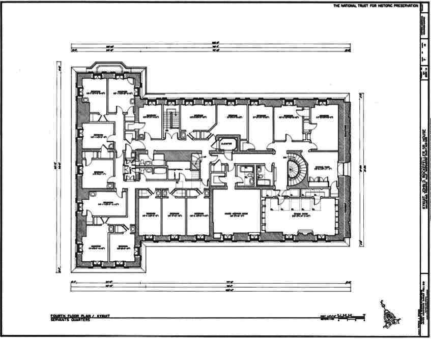 Kykuit Fourth Floor Plan Known Also As The John D Rockefeller Estate Is A 40 Room National Trust House In Westches Floor Plans Antebellum Homes How To Plan