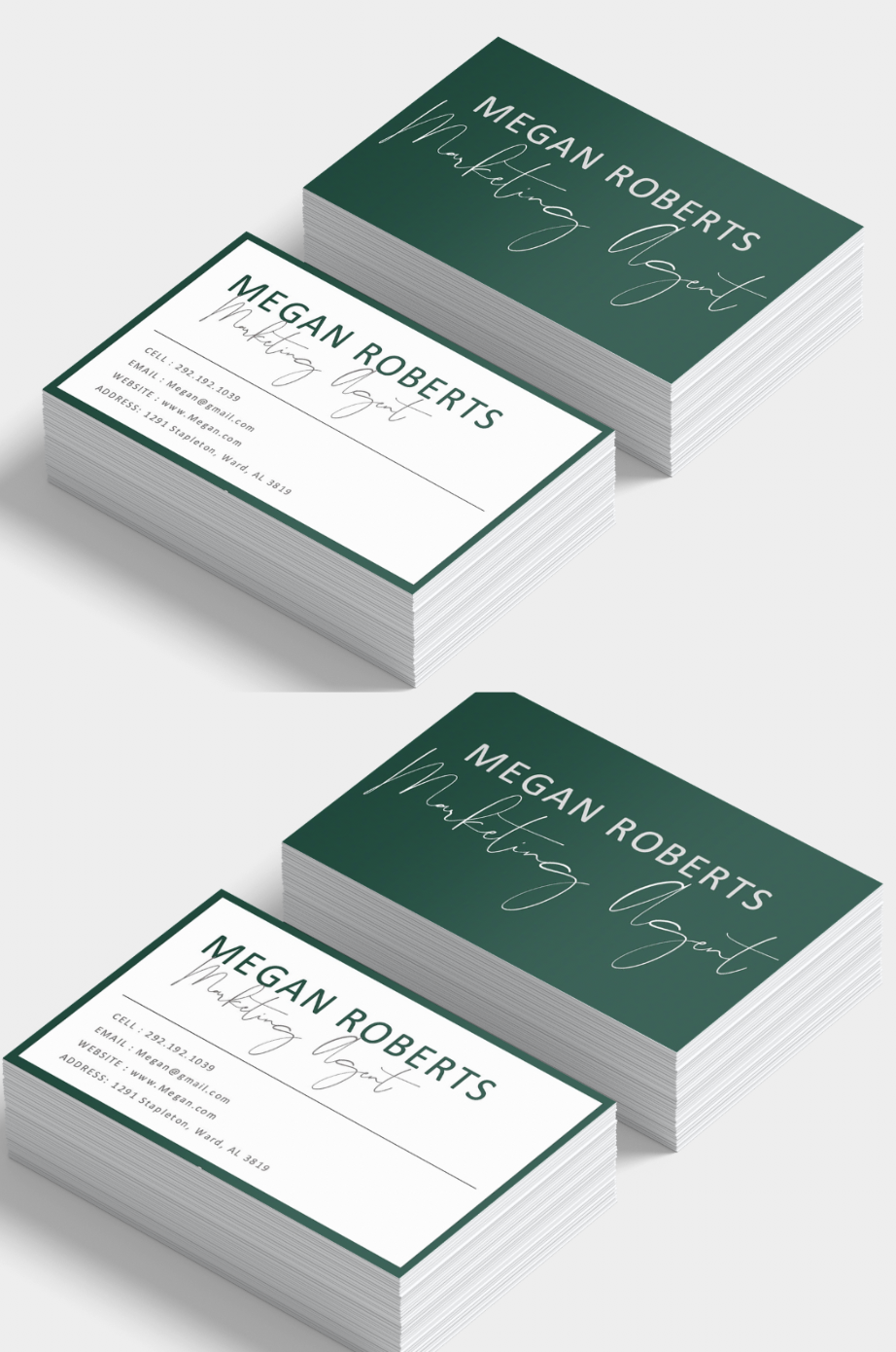 Modern Business Card Templates Custom Business Card Design Emerald Green Busi Modern Business Cards Custom Business Cards Professional Business Card Design