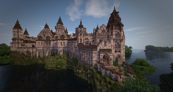 Realistic Medieval Castle 2  With Interior  Download  Minecraft Project
