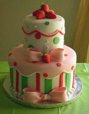 Lovely strawberry cake!