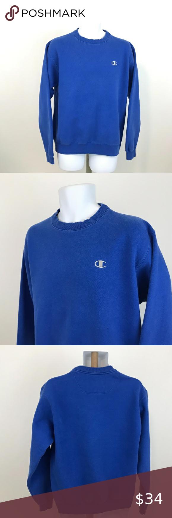 90s Champion Eco Fleece Blue Sweatshirt Size M Vintage 90s Champion Eco Fleece Sweatshirt Men S Size M Stitc In 2020 Sweatshirts Blue Sweatshirt Sweatshirt Shirt [ 1740 x 580 Pixel ]
