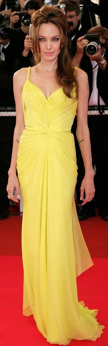 Angelina Jolie 2007 Cannes Film Festival Dresses Black Tie