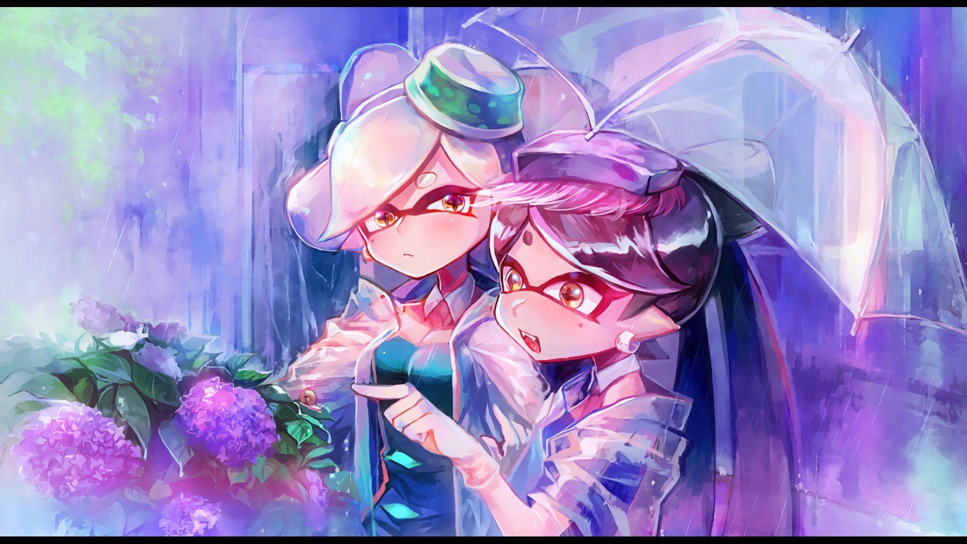 Splatoon Squid Sisters Callie Marie Nintendo Art Wallpaper