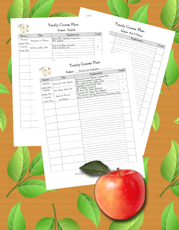 Our Homeschool Planner  How To Use Yearly Course Plan More