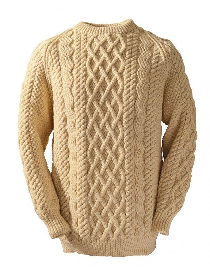 Hand-loomed Aran fisherman's sweater, Farrell clan, by ...