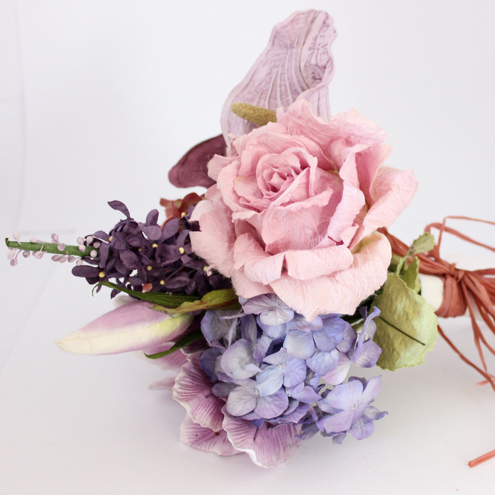 Mixed paper flower bouquet rustic purples paper flowers australia mixed paper flower bouquet rustic purples paper flowers australia mightylinksfo