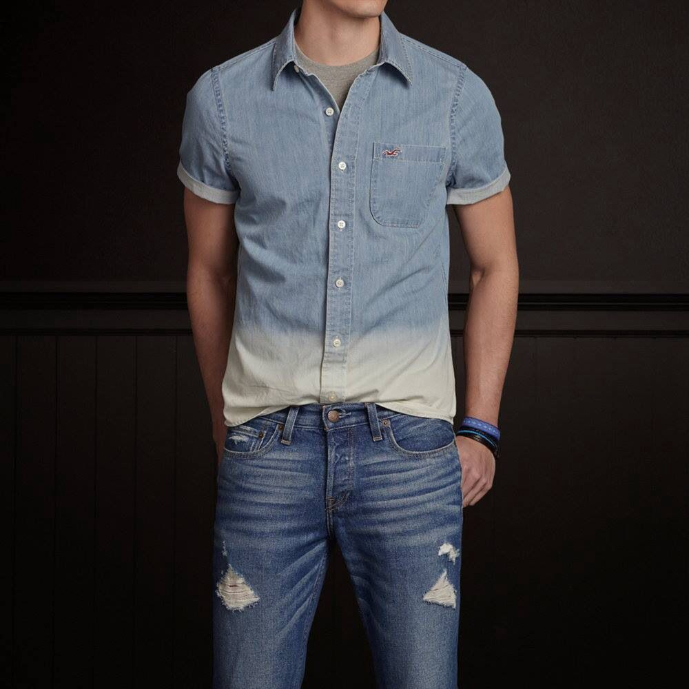 Camisa Hollister con degradado. | Denim shirt | Pinterest | Denim ...
