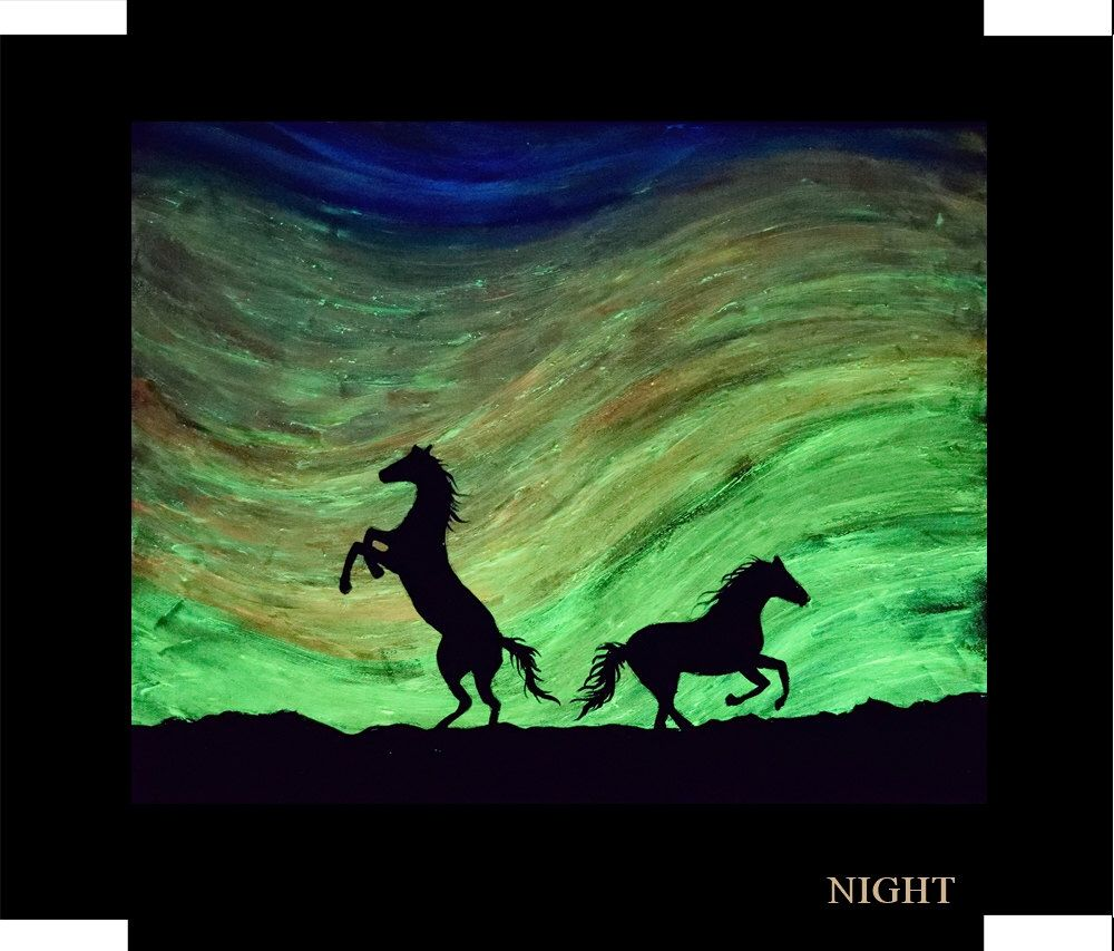the original glow in the dark painting by crisco art single