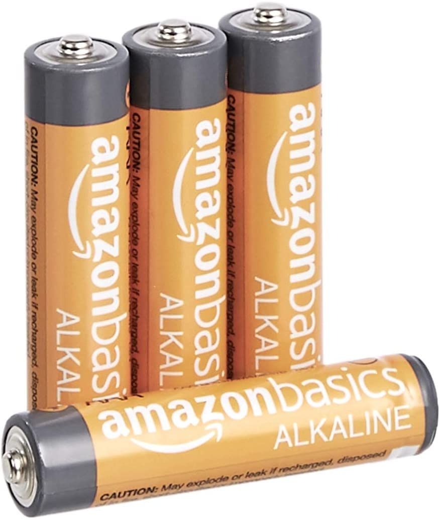 Amazon Com Amazonbasics 4 Pack Aaa High Performance Alkaline Batteries 10 Year Shelf Life Easy To Open Value Pa Alkaline Battery Alkaline Duracell Batteries