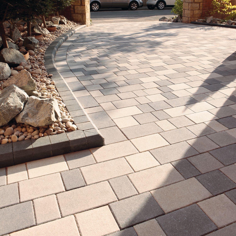 Stonemaster driveway paving block paving sandstone for Adoquin para estacionamiento