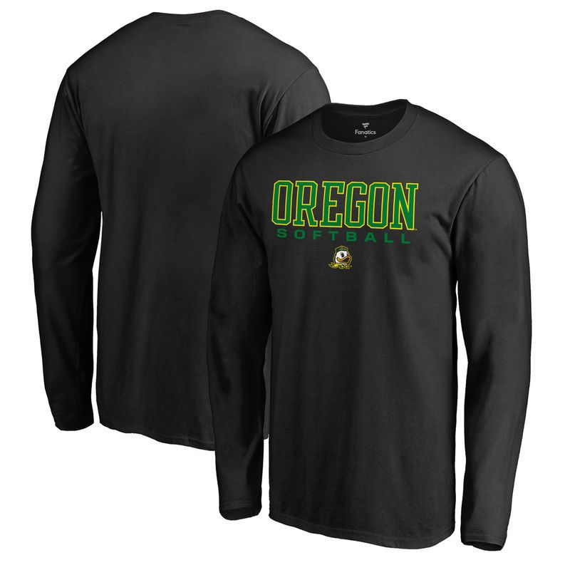 Oregon Ducks Fanatics Branded True Sport Softball Long Sleeve T-Shirt -  Black