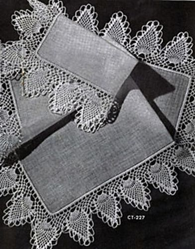 Pineapple Edging #CT-227 pattern by The Spool Cotton Company. Free ...