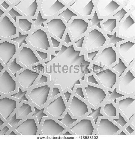 islamic 3d light grey background architectural muslim texture3d template for islamic designcan