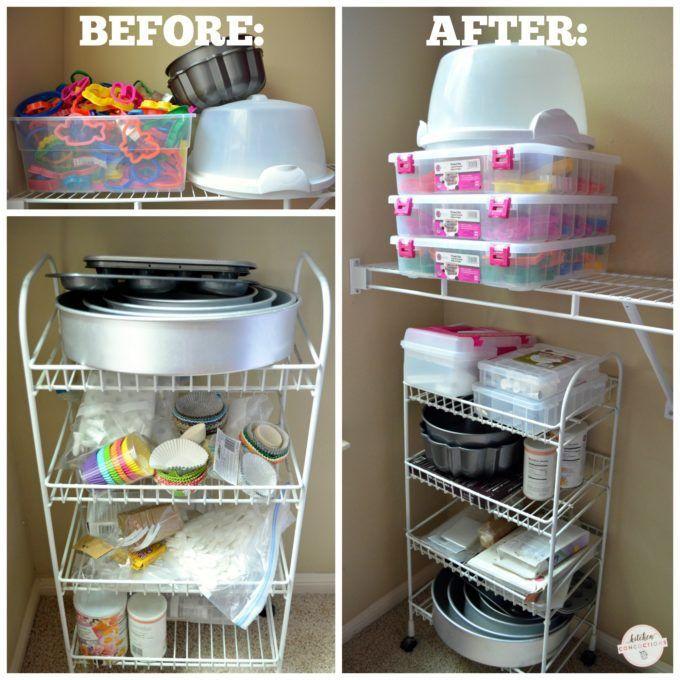 Baking Supply Organizing Ideas Organization Storage Cake Closet