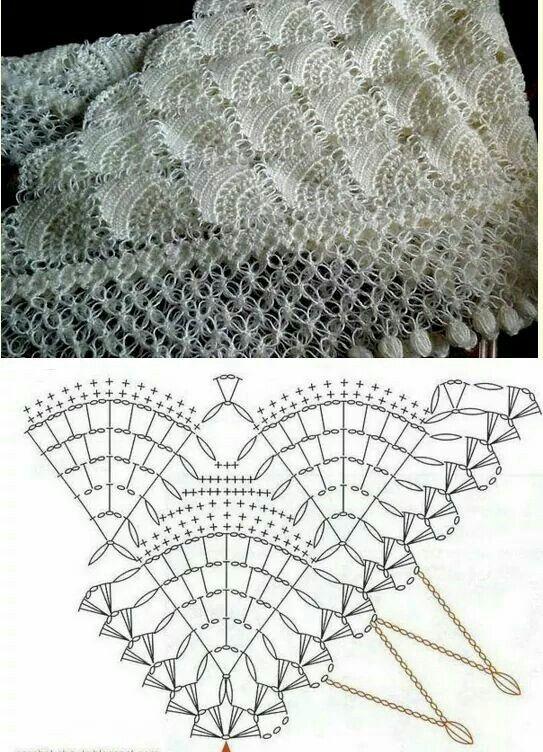 Pin von Amalia Teran auf Crochet Shawls | Pinterest | Häkelanleitung ...