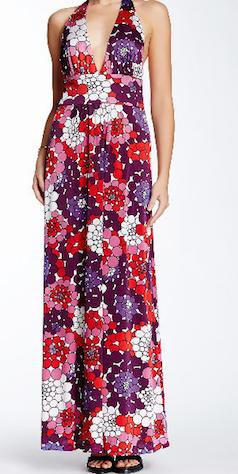 Purple retro maxi-dress