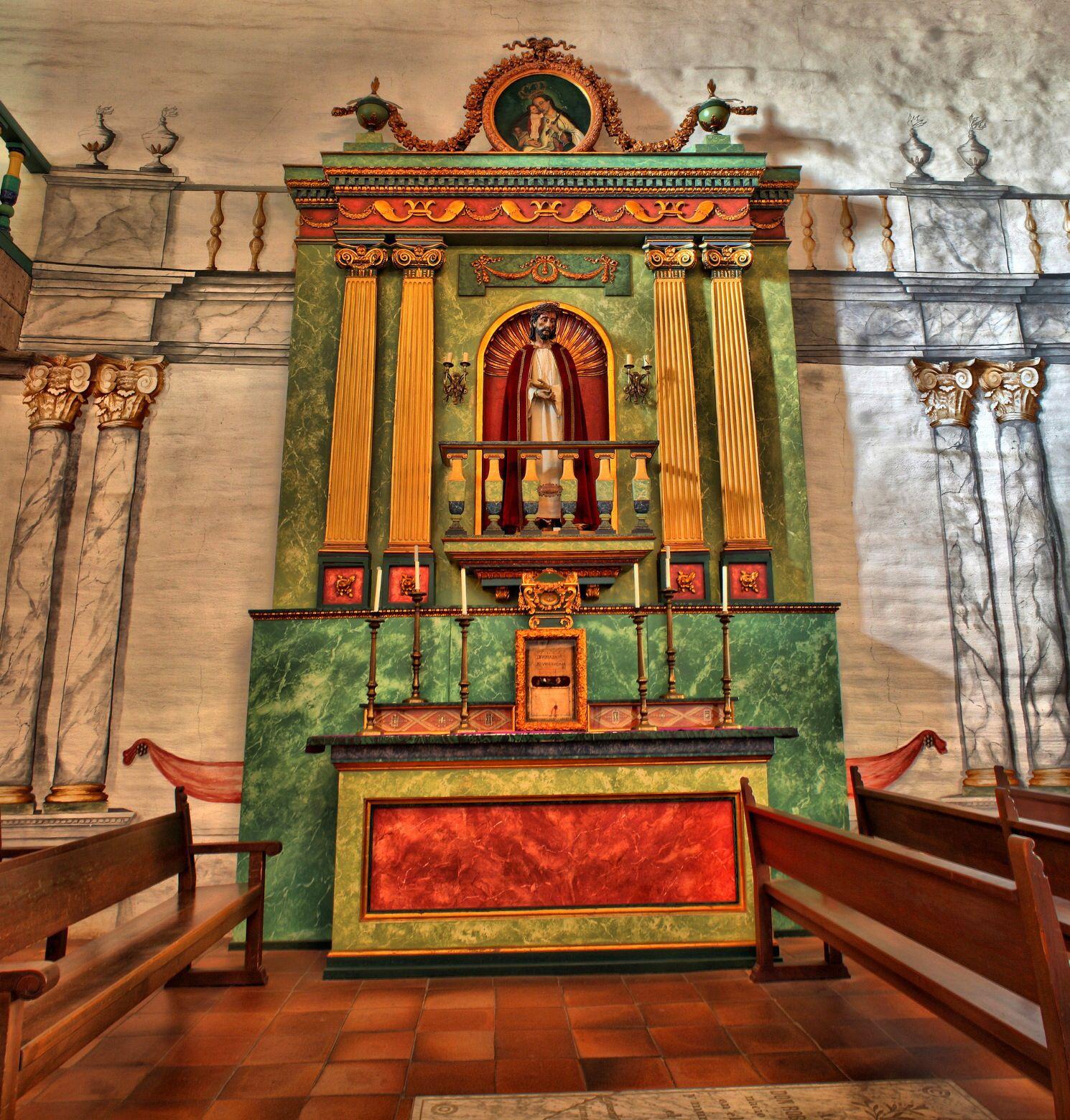 Altar at mission san jose ca old churches california