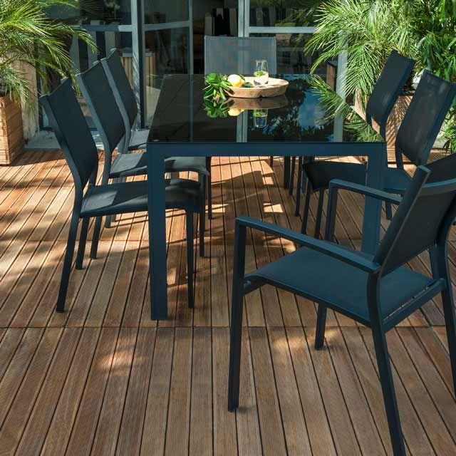 Table De Jardin En Metal Halis 180 X 90 Cm Outdoor Furniture