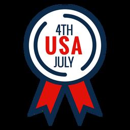 4th July Award Ribbon Icon Award Ribbon Icon Graphic Image