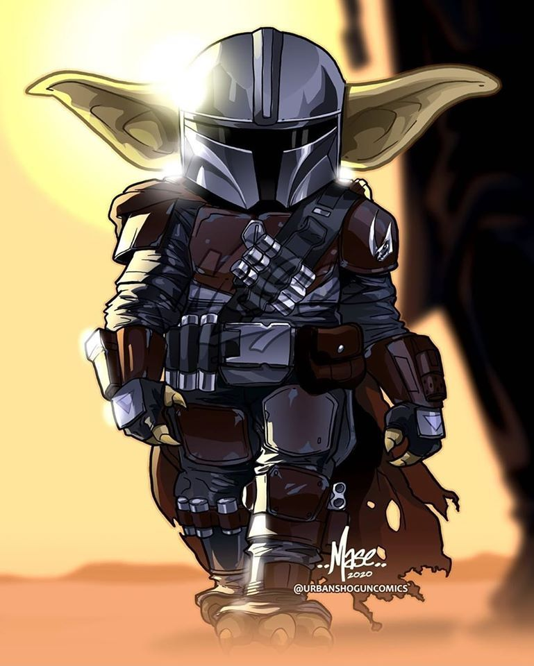 The Mandalorian & Child. Mando just being a dad to Baby