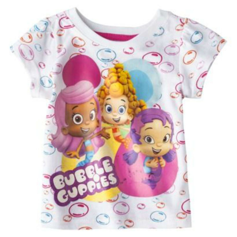 4d66663b8b Bubble Guppies Girls Toddler Size 3T t Shirt short Sleeve Bubble Birthday  Party