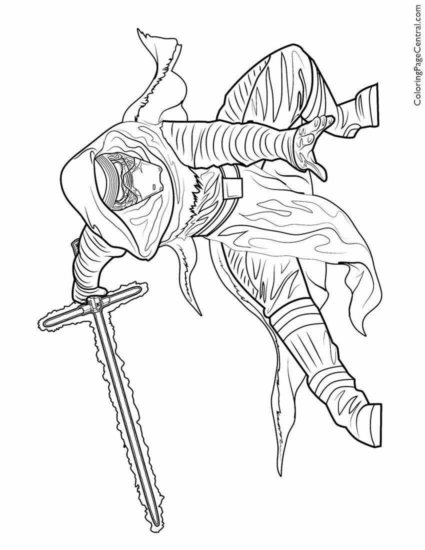 Kylo Ren Coloring Page Awesome Lightsaber Coloring Page At