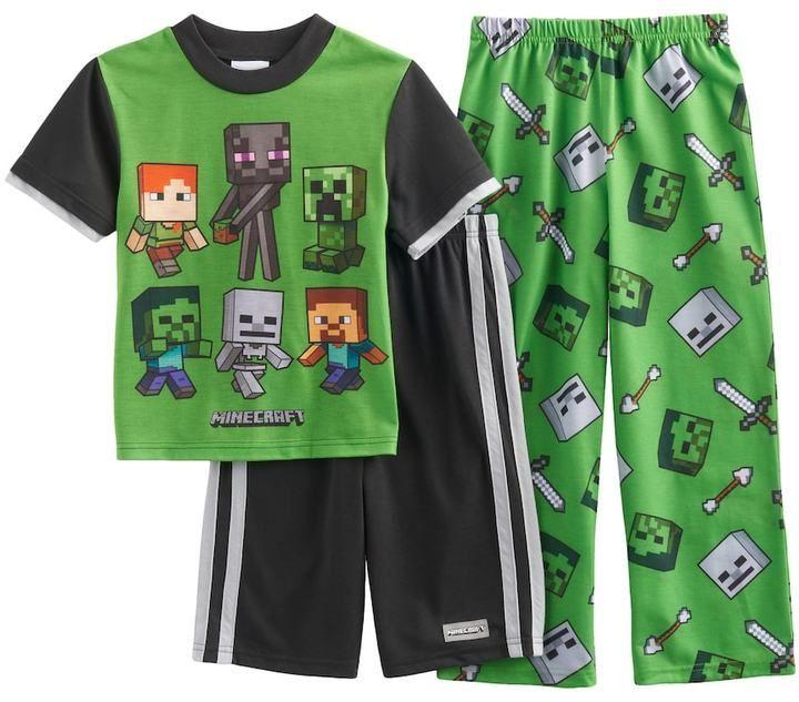 Minecraft Zombie Boy/'s Pyjamas UK Sizes 6 to 14 Years