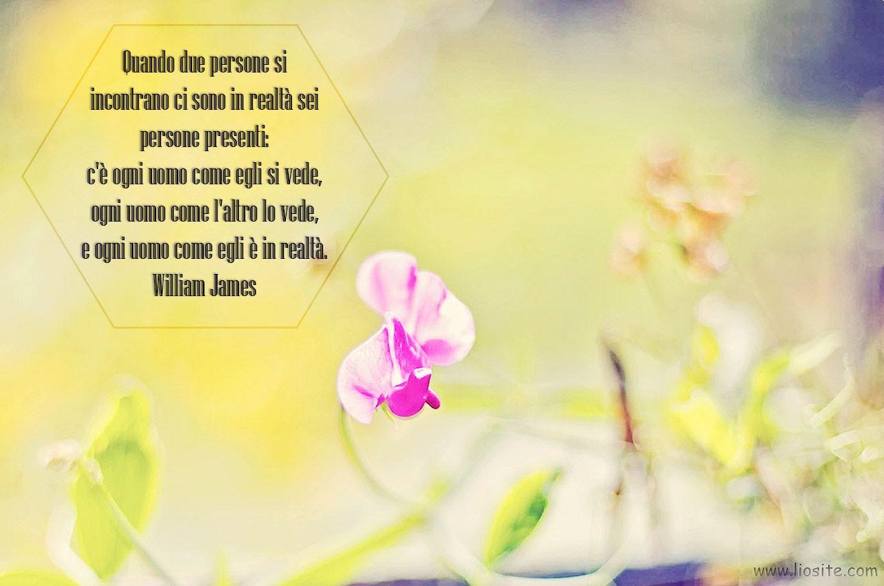 #William #James - Quando due persone si ......