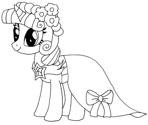 Princess Twilight Sparkle Coloring page | My Little Pony | Pinterest