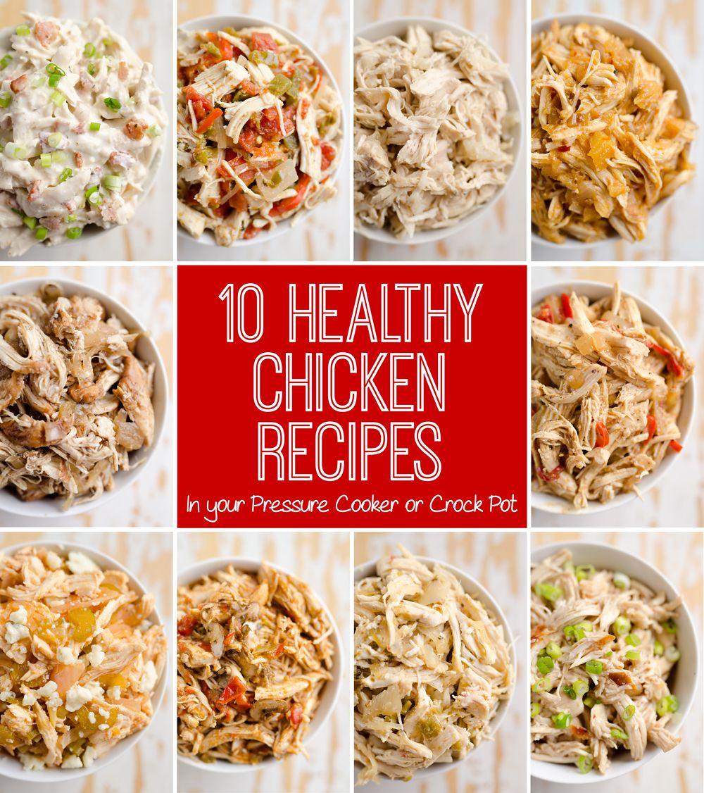 Simple Chicken Crock Pot Recipes Healthy: 10 Healthy Chicken Recipes In A Pressure Cooker Or Crock
