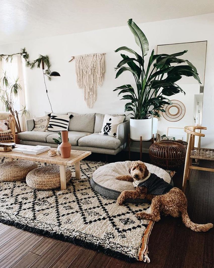 UOHome  Modern boho living room, Eclectic living room, Living