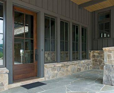 Stone work tall windows door. Greenville Mountain Contemporary Home - contemporary - patio & Stone work tall windows door. Greenville Mountain Contemporary ... pezcame.com