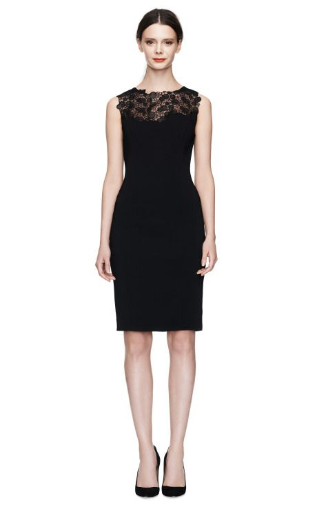 Shop Sleeveless Dress With Lace Detail by Versace Now Available on Moda Operandi