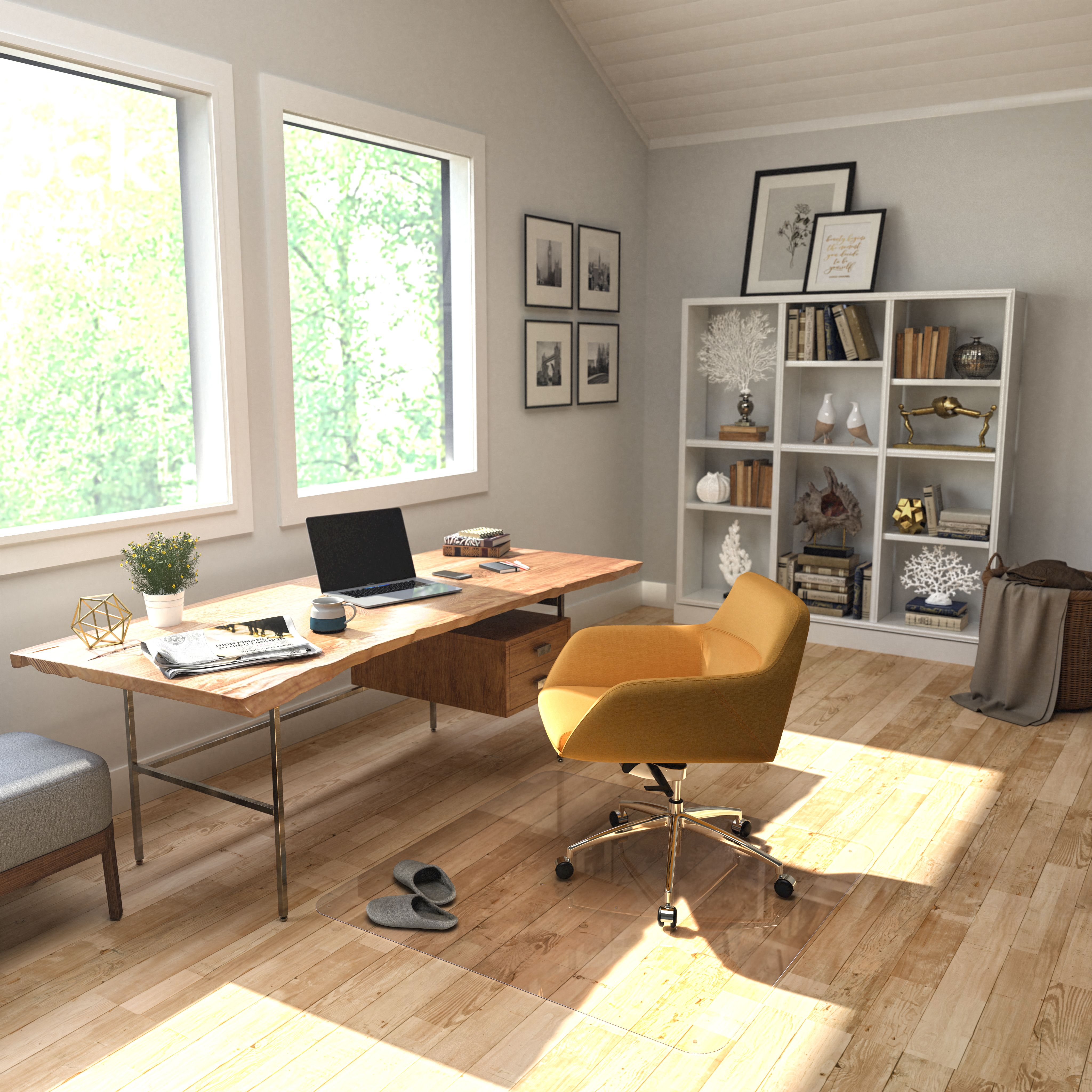 ICYMI Universal 45 x 53 Home Office Floor Chair Mat Low