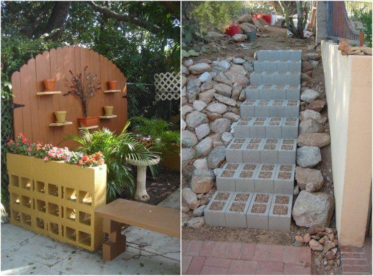 gartengestaltung-guenstig-idee-raumteiler-treppenstufen, Garten und bauen