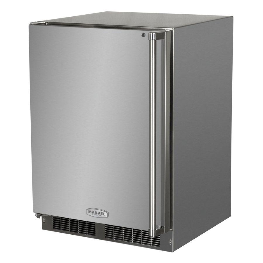 Marvel Outdoor 5 3 Cu Ft Counter Depth Built In Freestanding Compact Refrigerator Stainless Steel Ener In 2020 Outdoor Refrigerator Outdoor Kitchen Outdoor Kegerator