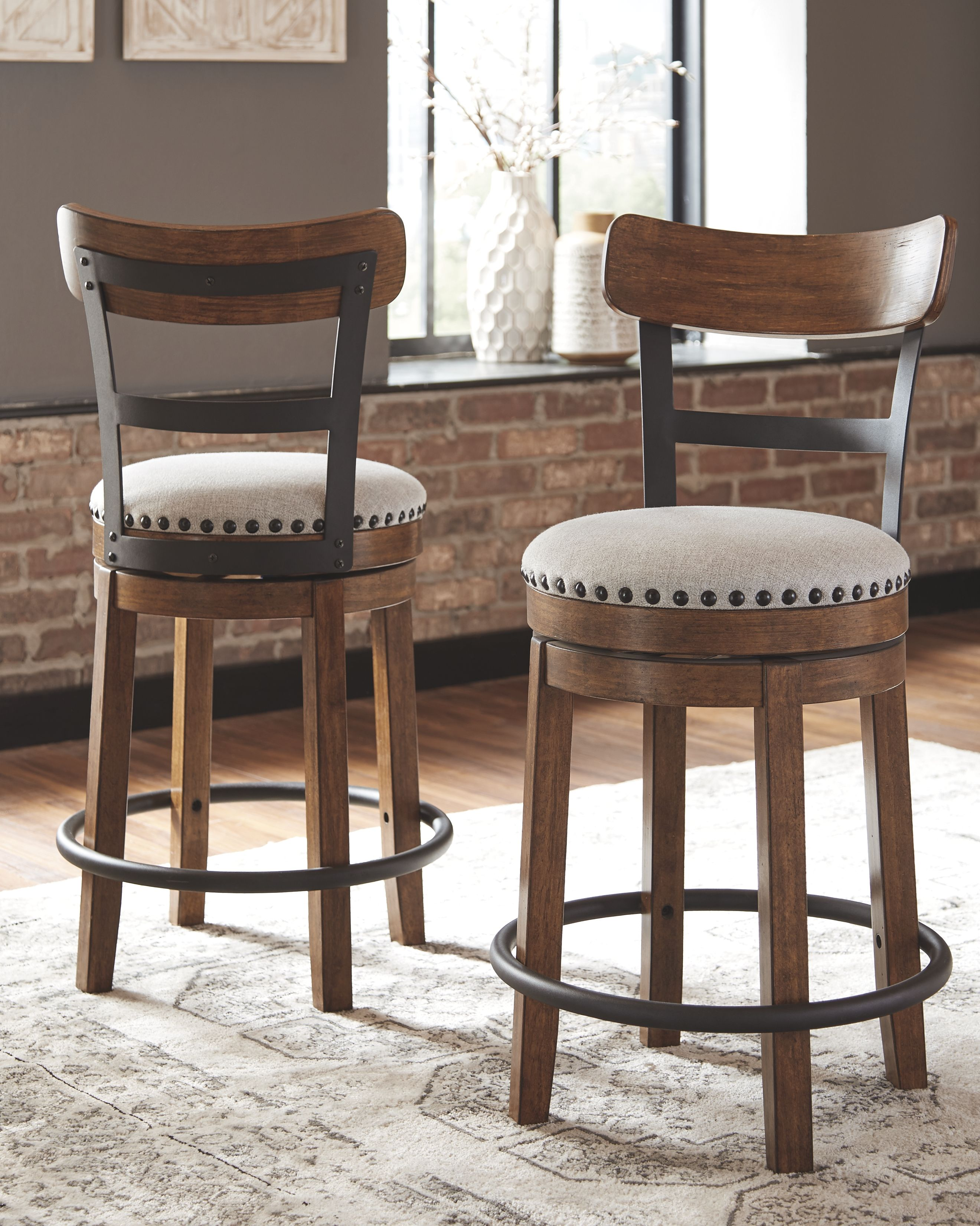 Remarkable Valebeck Counter Height Bar Stool Set Of 2 Brown In 2019 Onthecornerstone Fun Painted Chair Ideas Images Onthecornerstoneorg