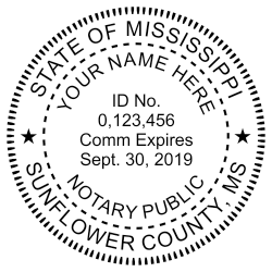 Large Mississippi Notary stamp