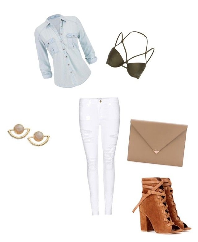 """Beige accents"" by queen-of-fab on Polyvore featuring Frame Denim, River Island, Gianvito Rossi, maurices, T+C by Theodora & Callum and Alexander Wang"
