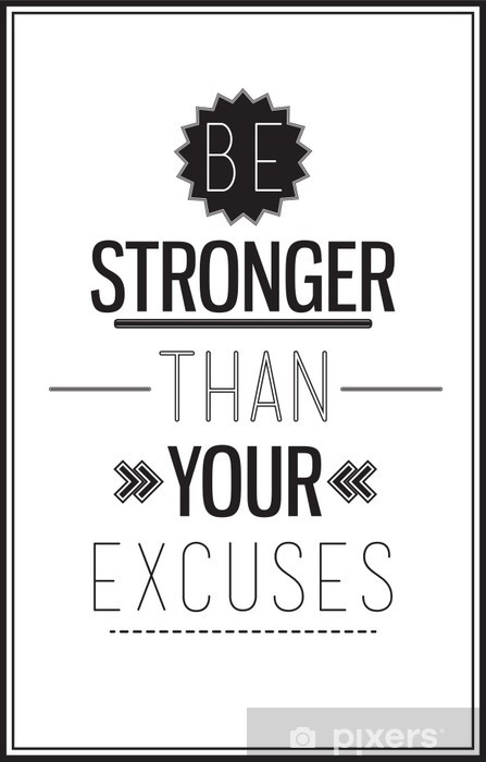 Motivational poster with a quote on a white background Wall Mural • Pixers® - We live to change